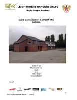 CLUB MANAGEMENT MANUAL Issue 9