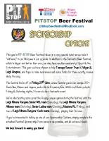 Pitstop Beer Festival Sponsors letter